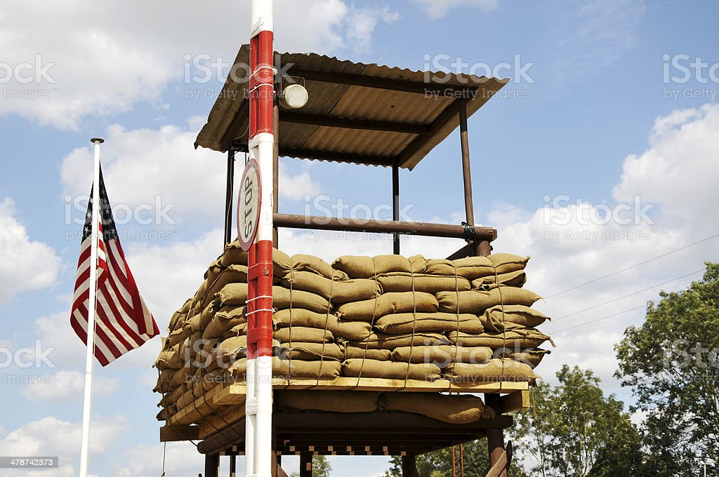 U.S. Military Checkpoint stock photo