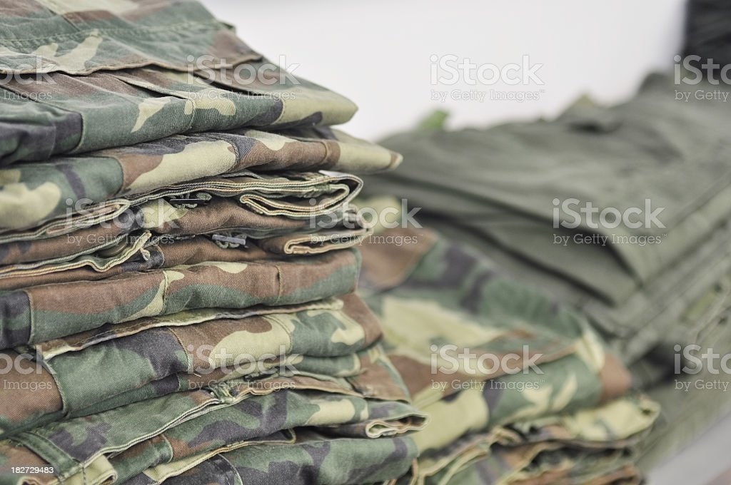 Military clothing stock photo