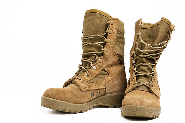 Military Combat Boots These are combat boots for feet. boot stock pictures, royalty-free photos & images