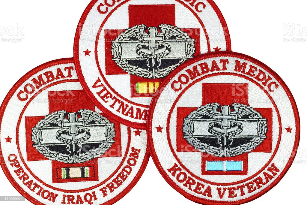 Us Military Combat Medic Patches Stock Photo - Download