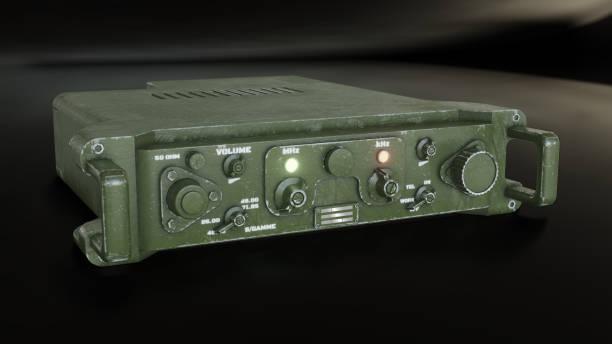 Militärische Kommunikationseinrichtung 3d-Abbildung – Foto