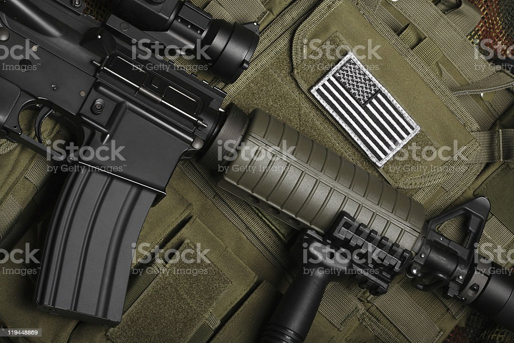 Military concept. Still life. stock photo