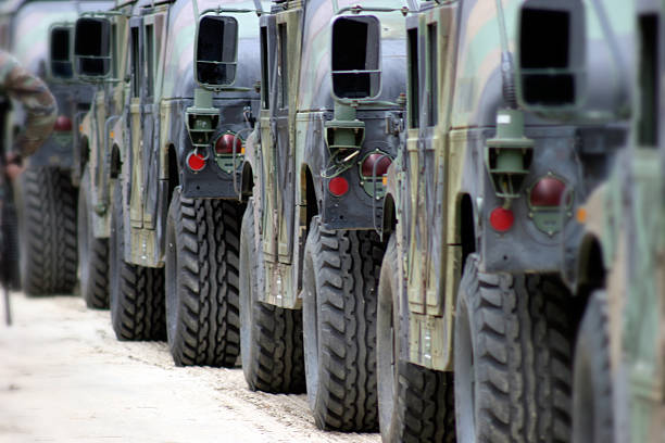 Military convoy Military exercises battlefield stock pictures, royalty-free photos & images