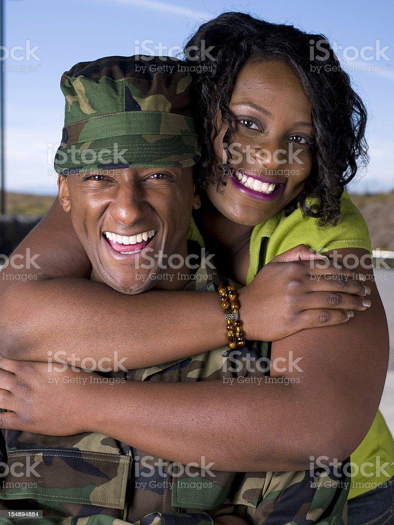 Military Couple royalty-free stock photo