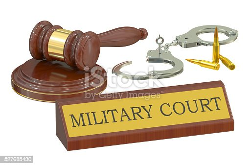 military court concept, 3D rendering