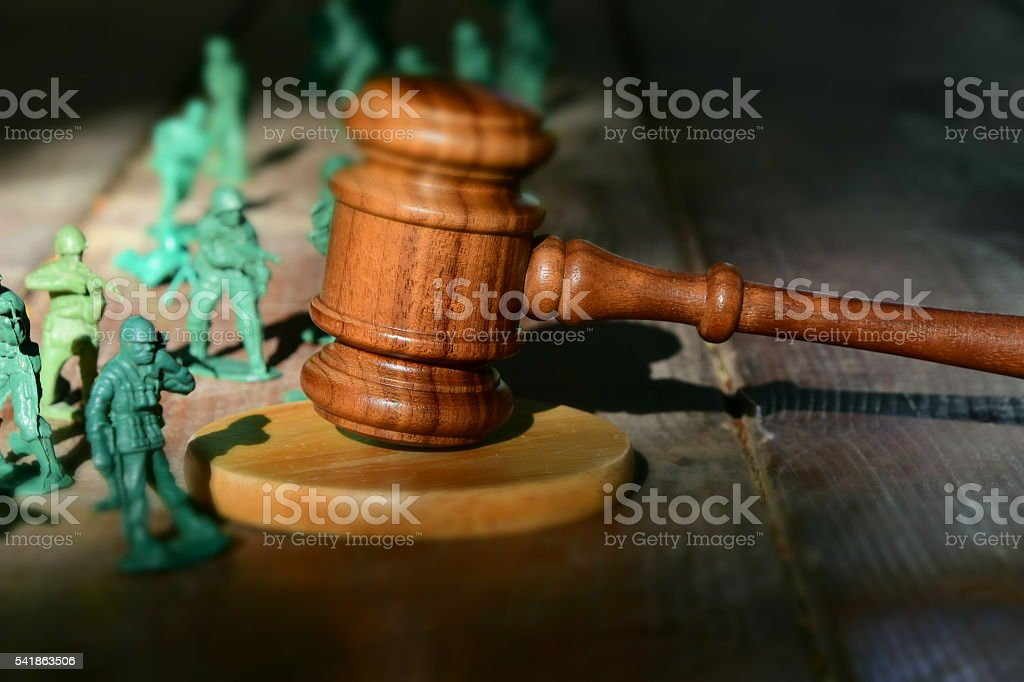 military court Concept stock photo