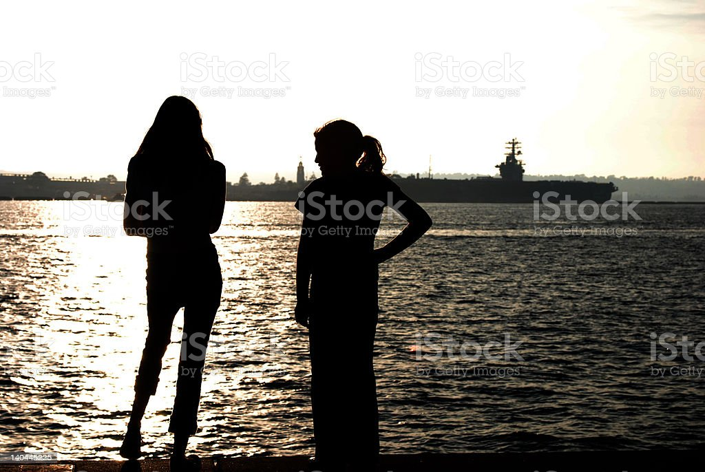 Military Daughters stock photo