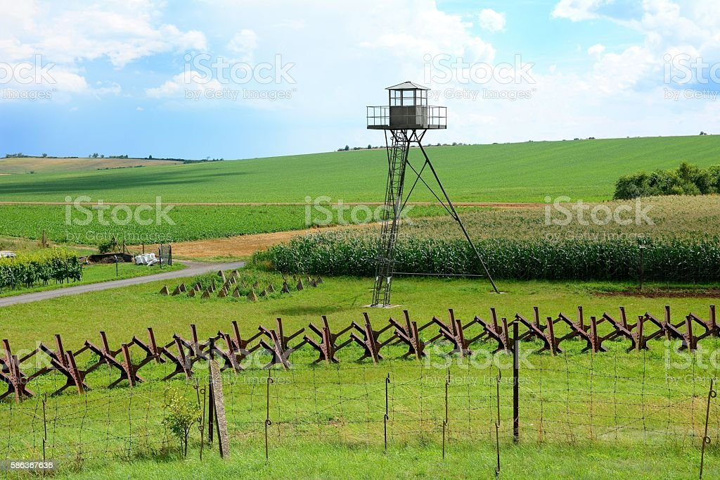 View on watchtower and line of defense and military territory near...
