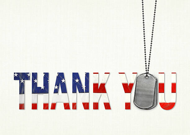 military dog tag thank you - veterans day 個照片及圖片檔