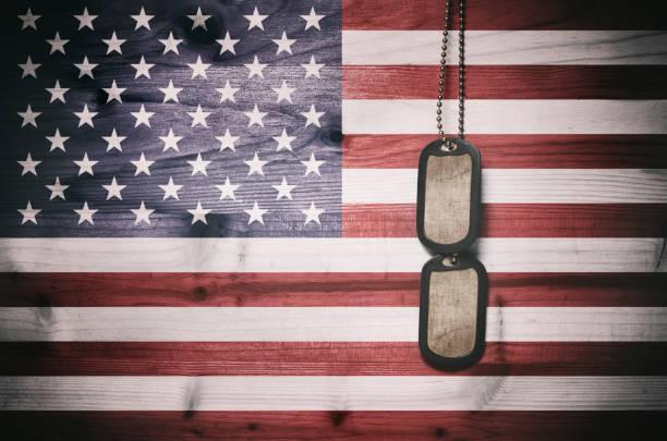 Militärische dog tags – Foto