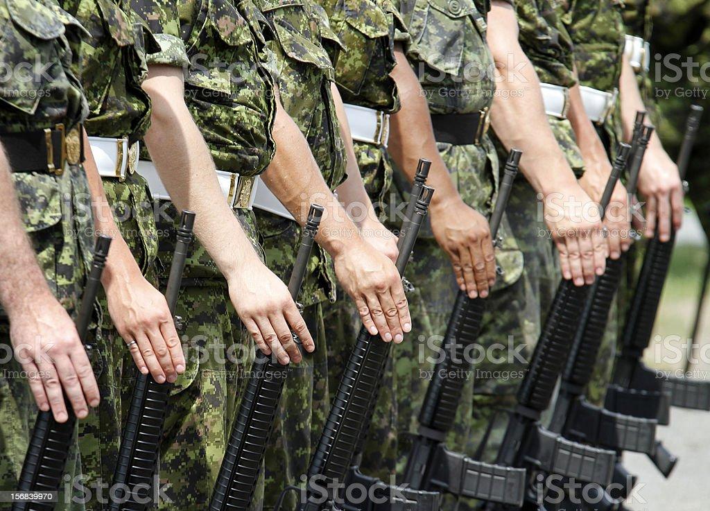 Military drill stock photo