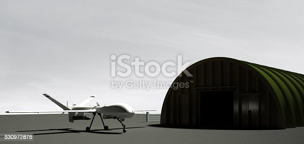 535194869 istock photo Military drone (UAV) ready for the battle 530972875