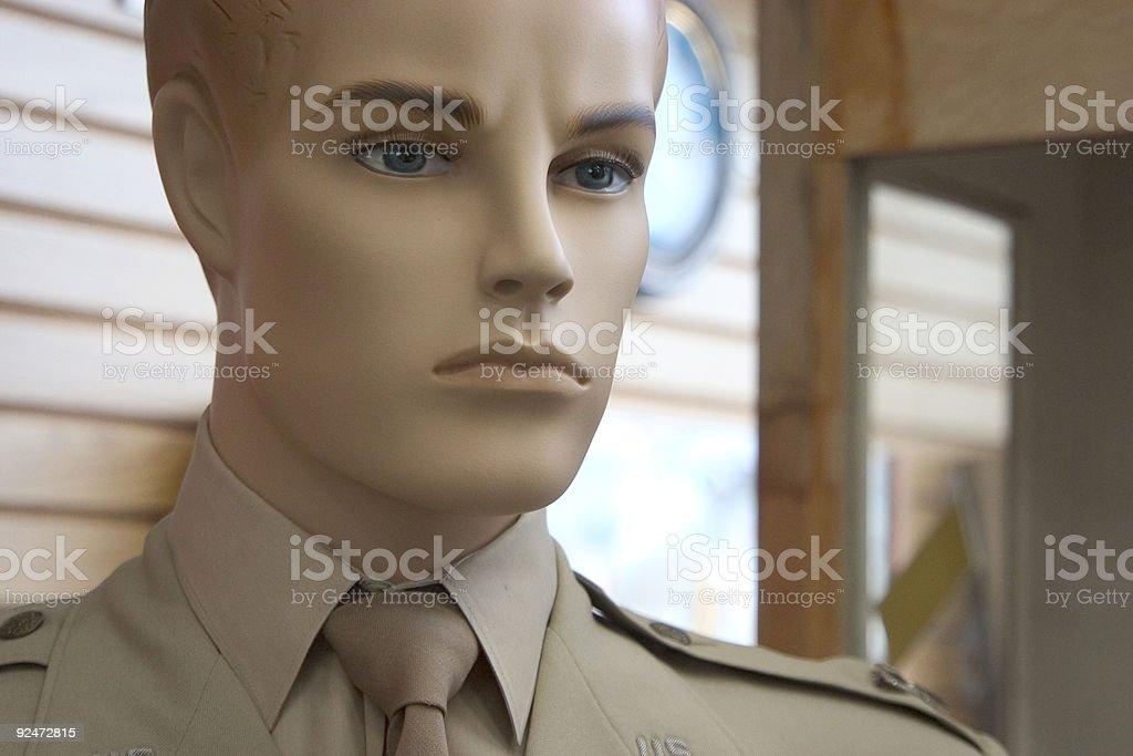 Military Dummy royalty-free stock photo