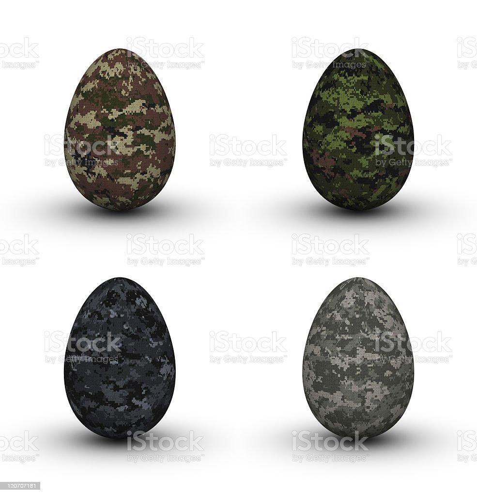 Military Easter Eggs stock photo