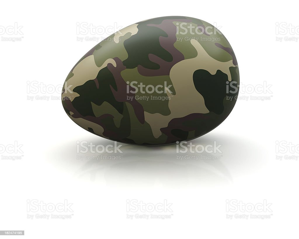 Military Egg stock photo