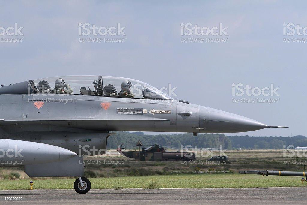 Military F-16 jet stock photo