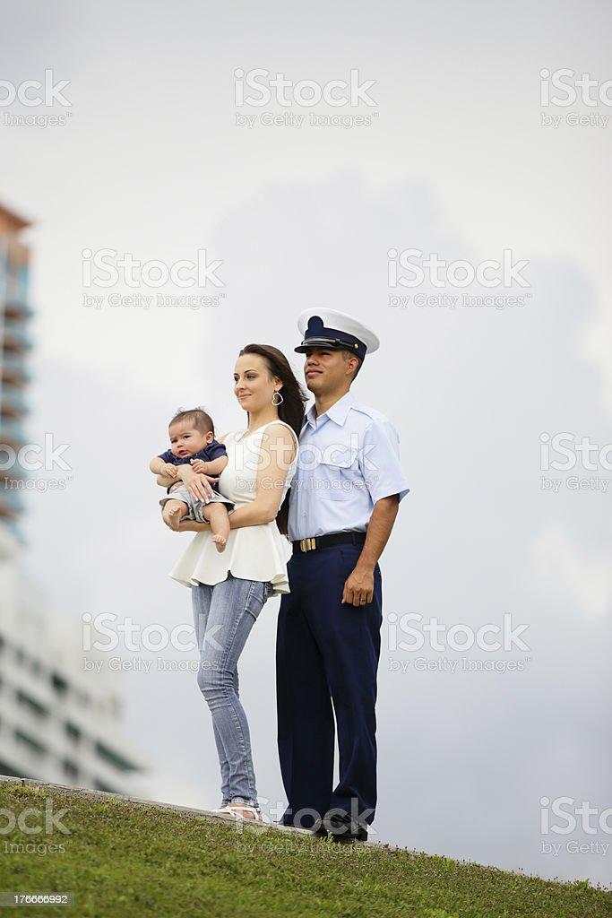 Military family royalty-free stock photo