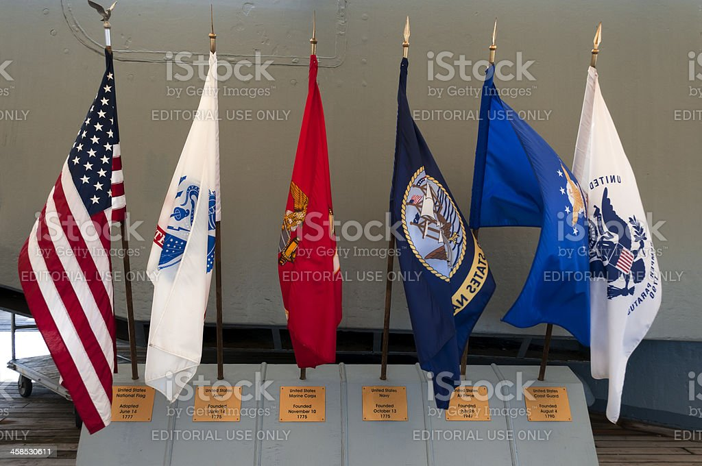 Military Flags stock photo