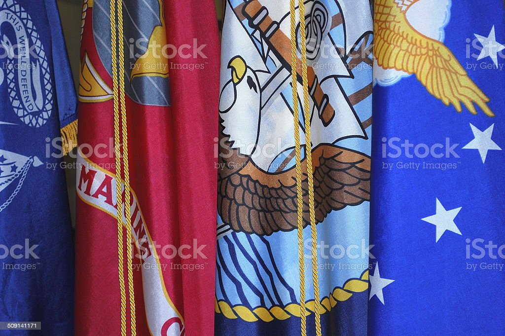 Military flags. stock photo
