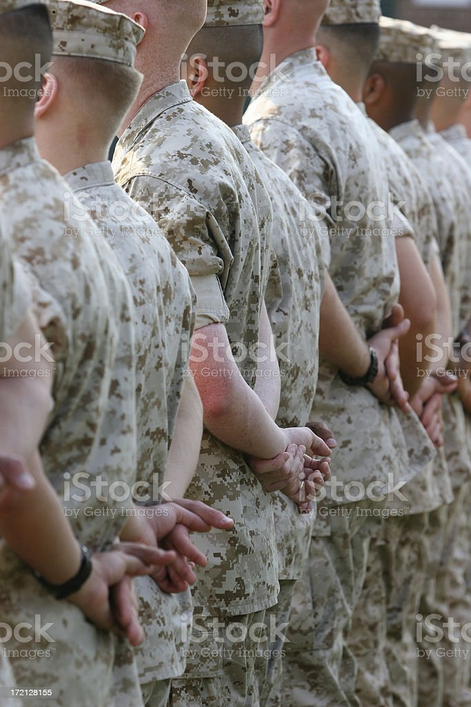 Military Formation of United States Marines royalty-free stock photo