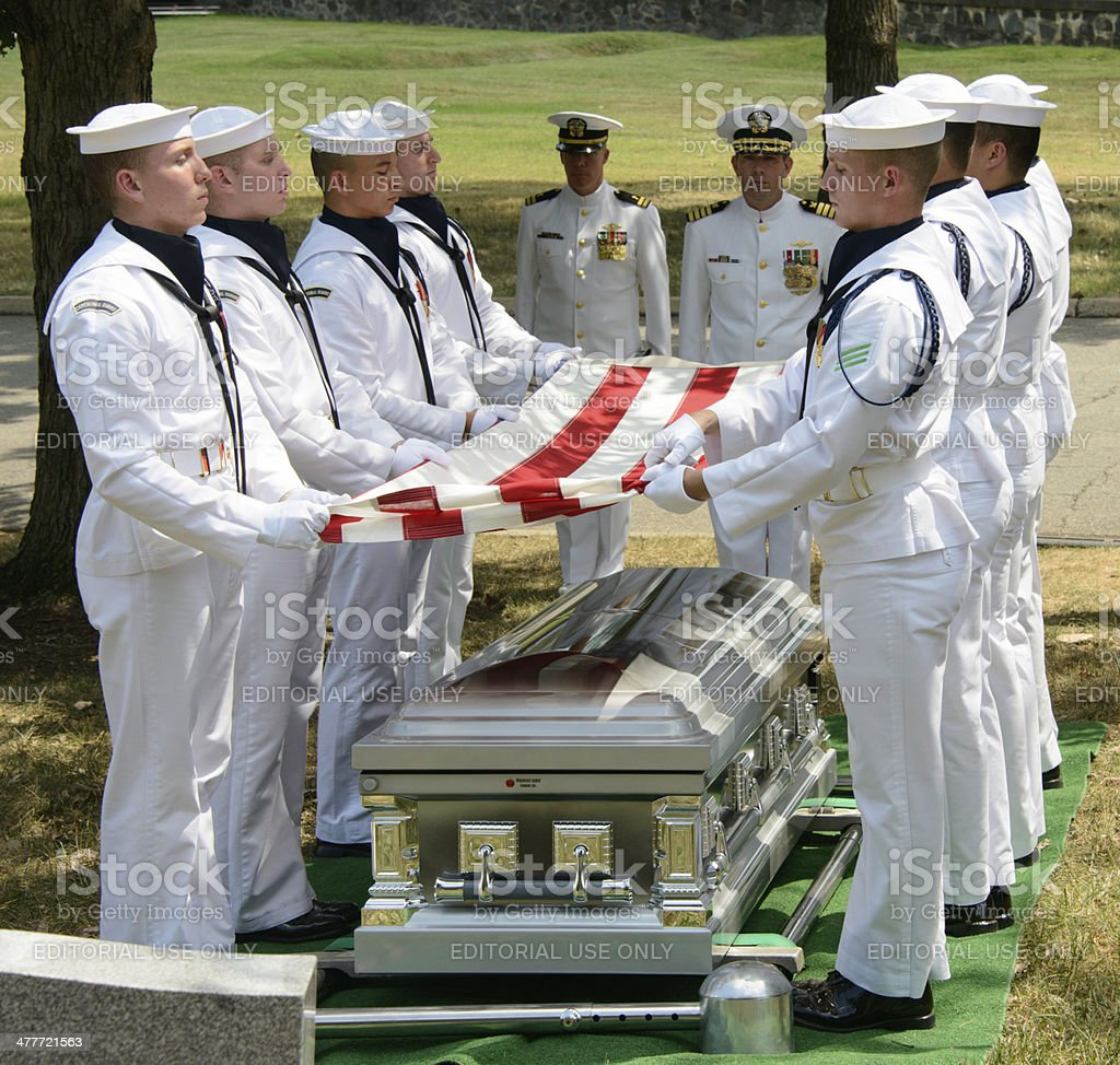 Military Funeral at Arlington National Cemetery royalty-free stock photo