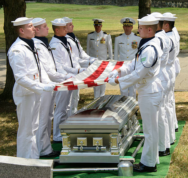 Military Funeral at Arlington National Cemetery stock photo