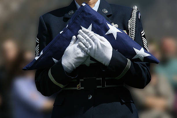 military funeral - memorial day stock pictures, royalty-free photos & images