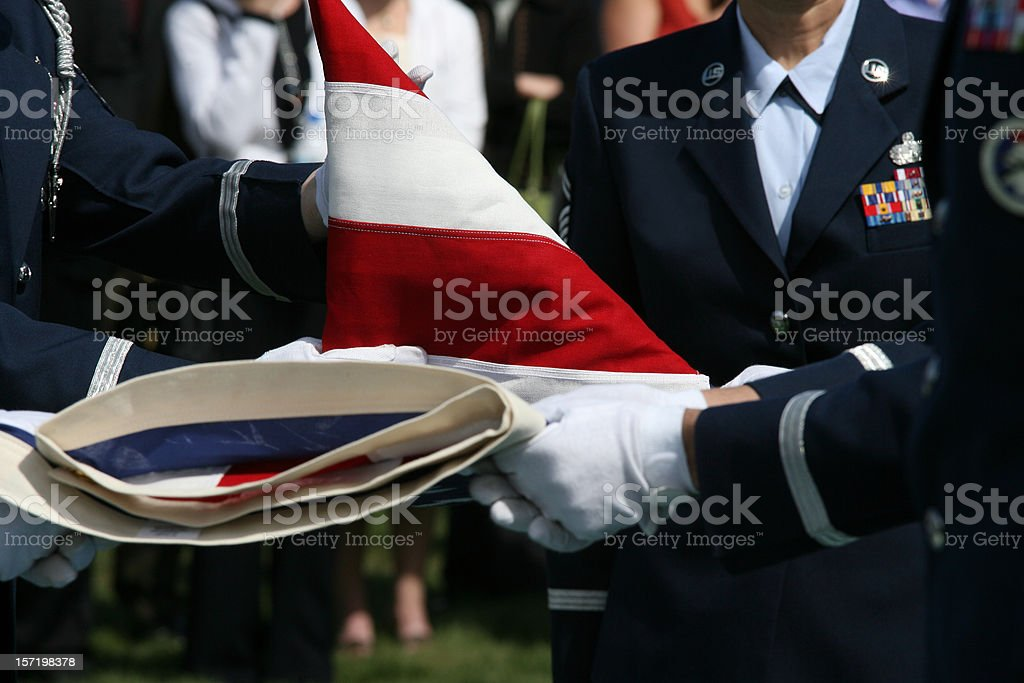 Military Funeral stock photo
