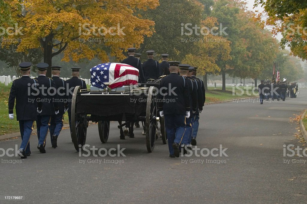 Military Funeral royalty-free stock photo