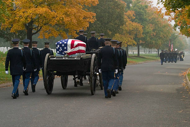 military funeral - arlington national cemetery stock pictures, royalty-free photos & images