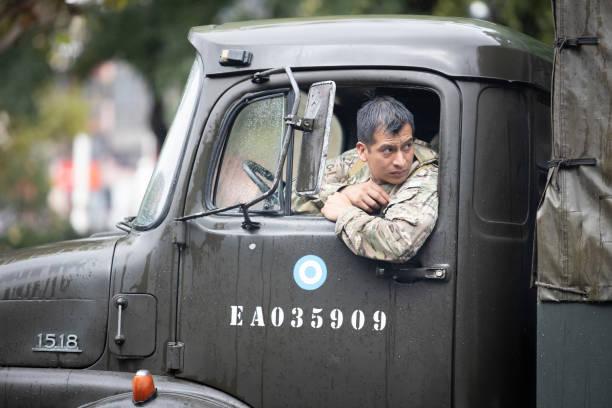Militärische Gendarmeria in Quarantäne Buenos Aires – Foto