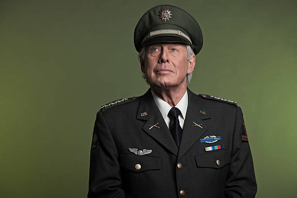 Military general in uniform. Studio portrait. Military general in uniform. Studio portrait. sergeant stock pictures, royalty-free photos & images