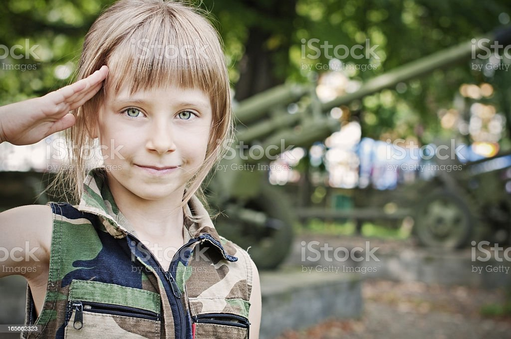 Military girl royalty-free stock photo