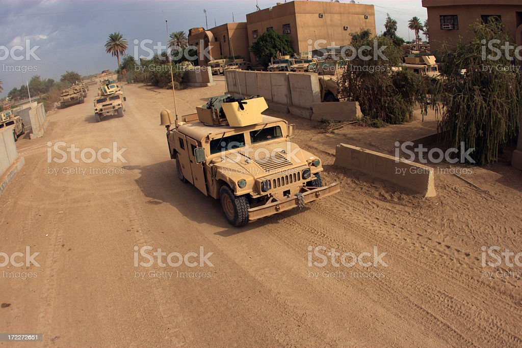 Military grace driving vehicle royalty-free stock photo