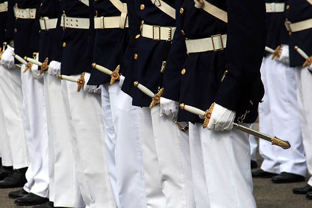 graduación militar - oficial rango militar fotografías e imágenes de stock