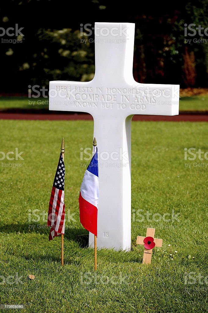 US Military Grave, stock photo
