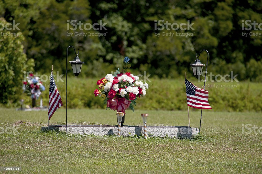 Military Grave royalty-free stock photo