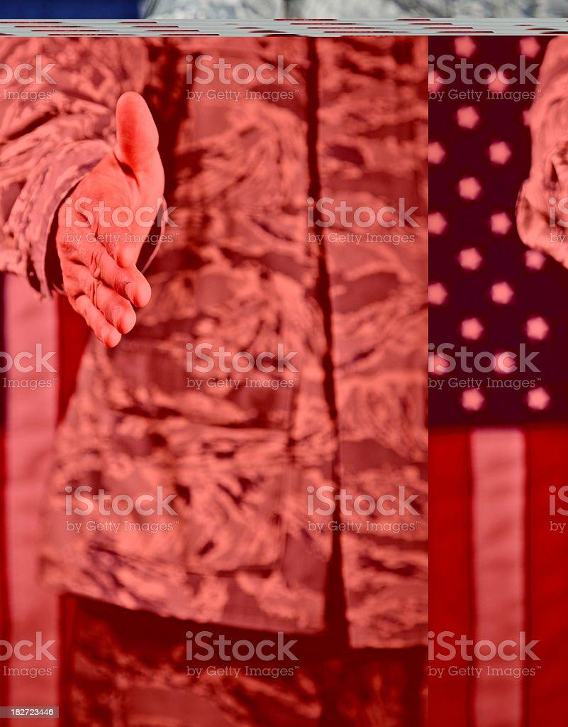 Military Greeting royalty-free stock photo