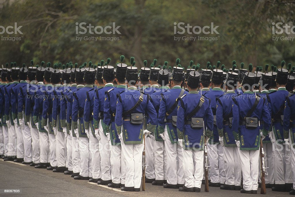 Military group royalty-free stock photo