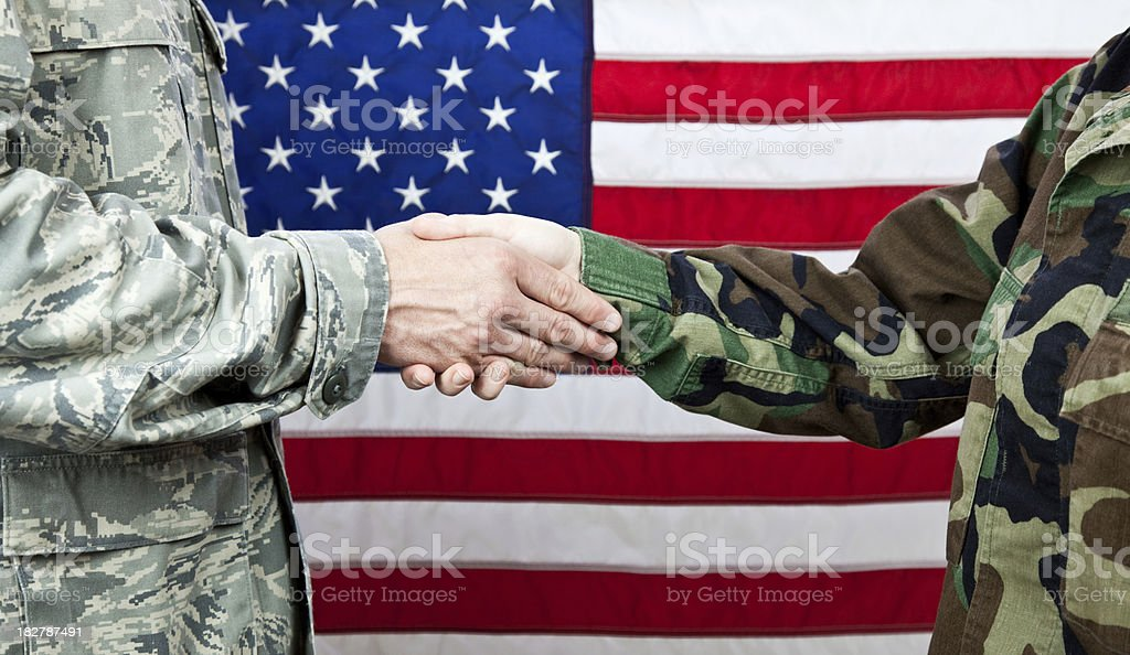 Military Handshake royalty-free stock photo