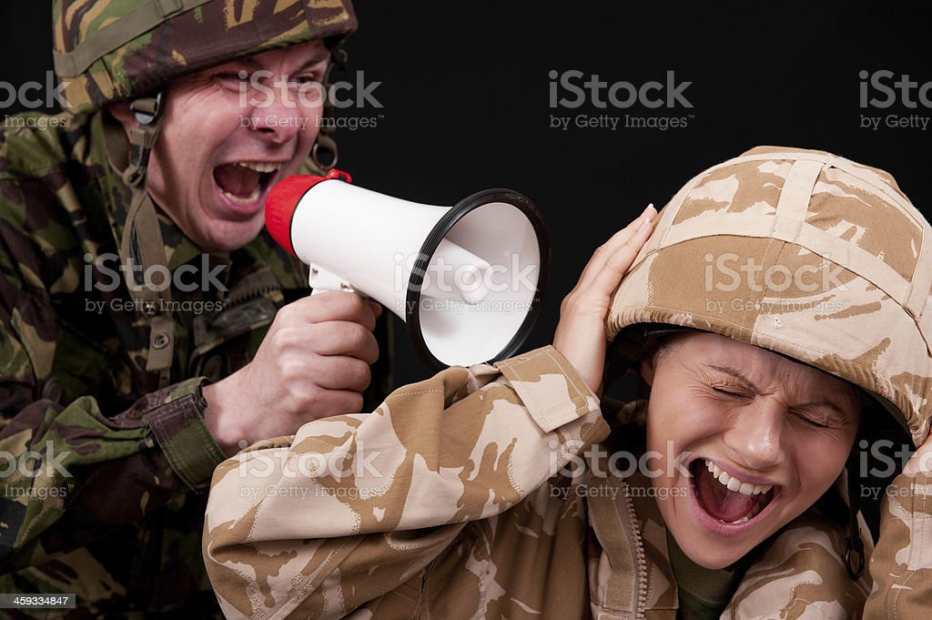 Military Harassment stock photo