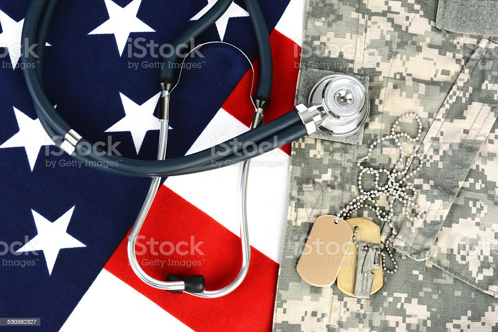 Military Health Care Concept stock photo