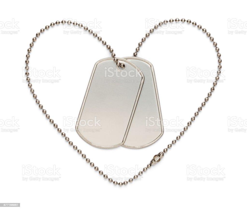 Military Heart Dog Tags stock photo