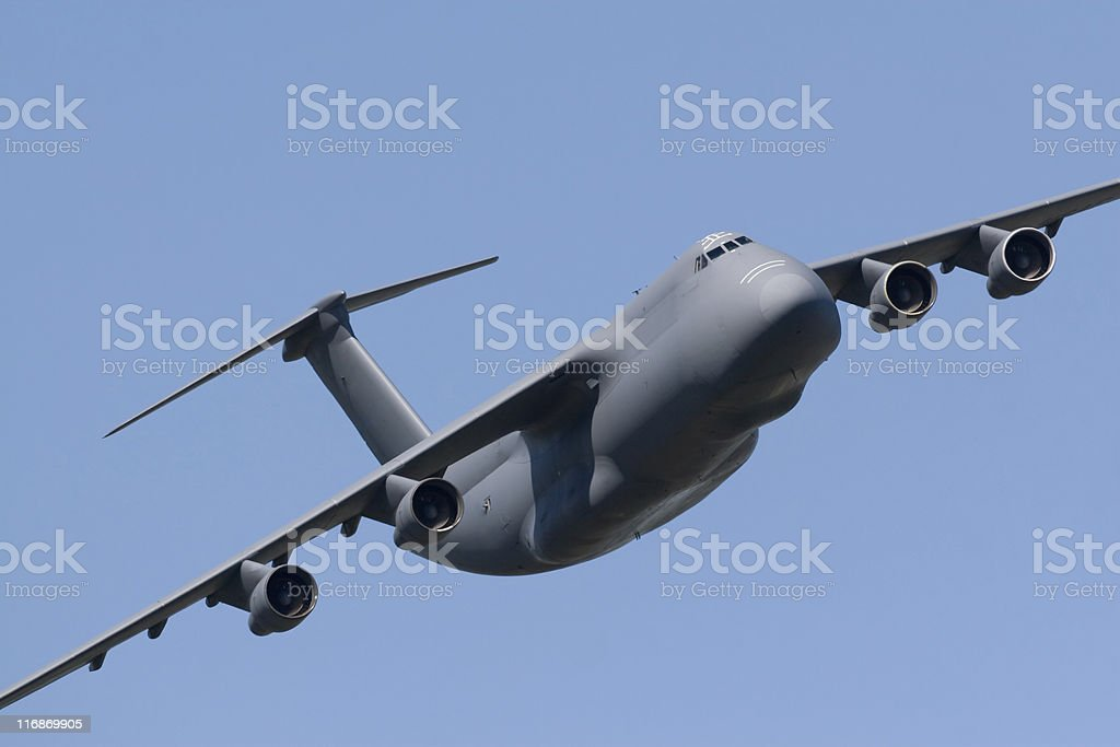 Military Heavy Transport Aircraft stock photo