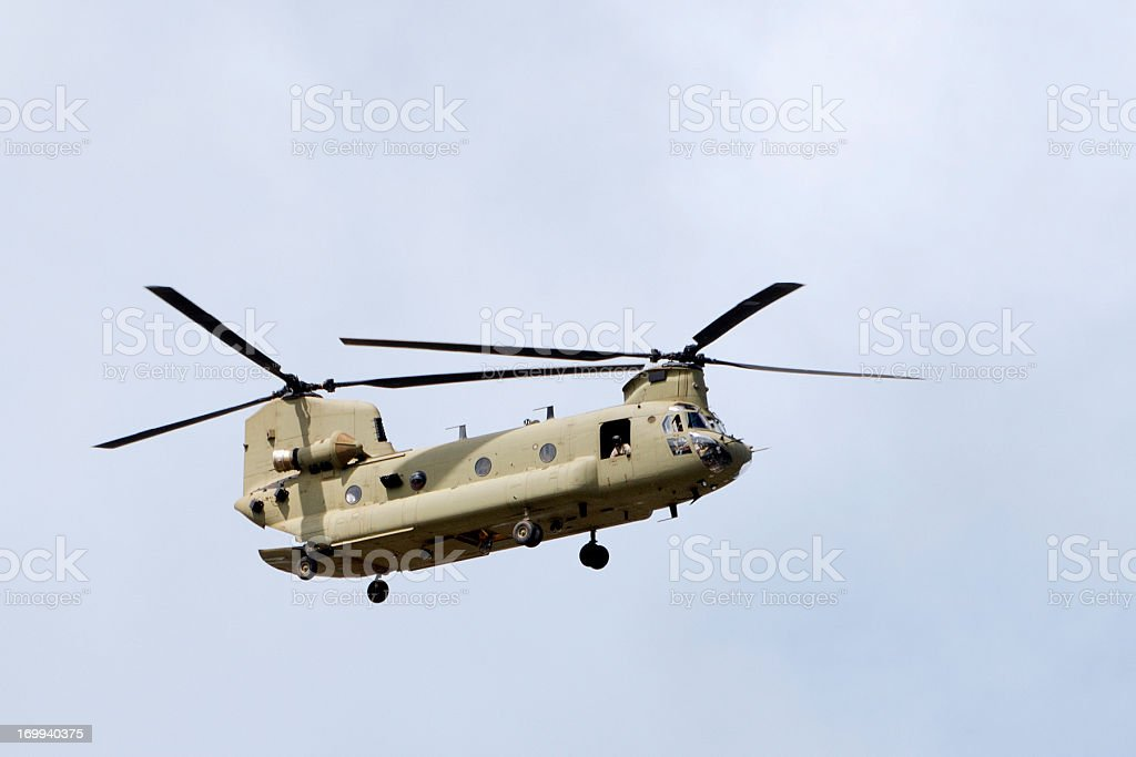military helicopter Boeing Ch47 Chinook stock photo