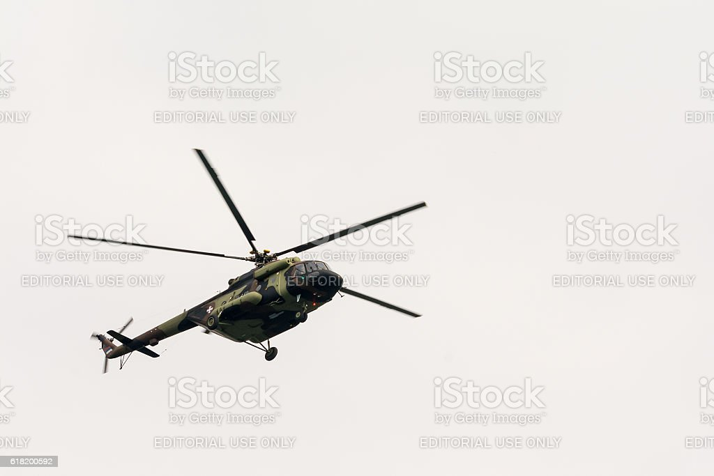 Military helicopter  - Military parade stock photo