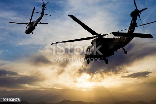 istock Military Helicopters 901408478
