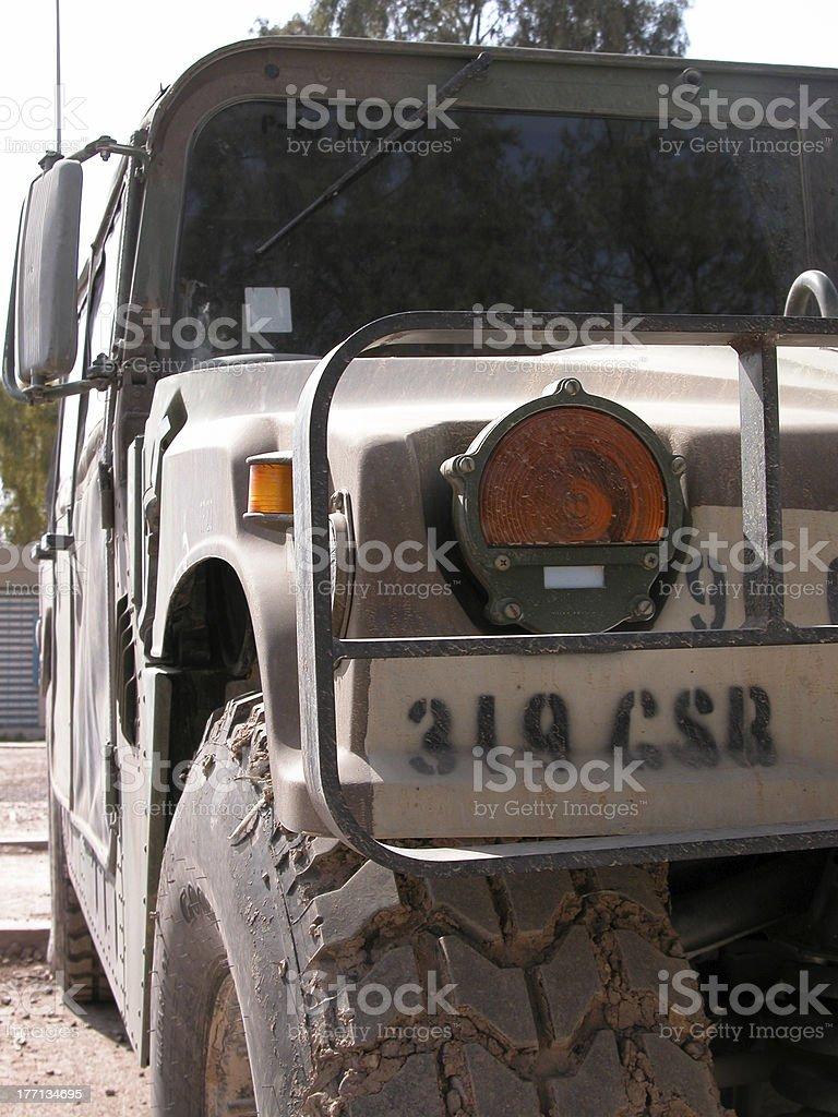 Military Hummer stock photo