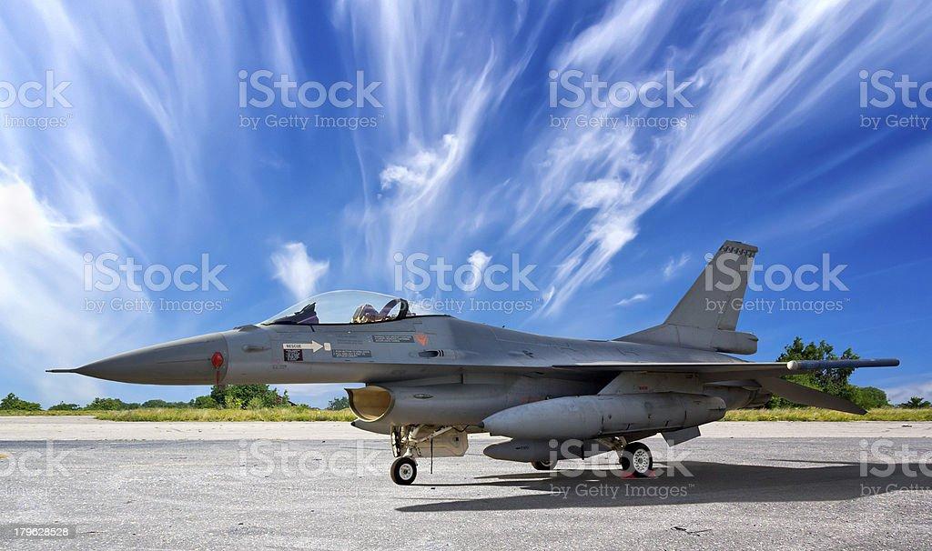 Military jet aircraft F-16 stock photo