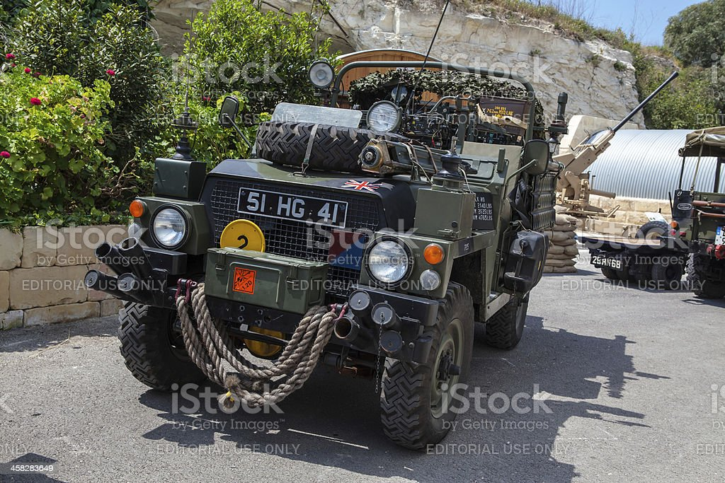 Military Land Rover royalty-free stock photo